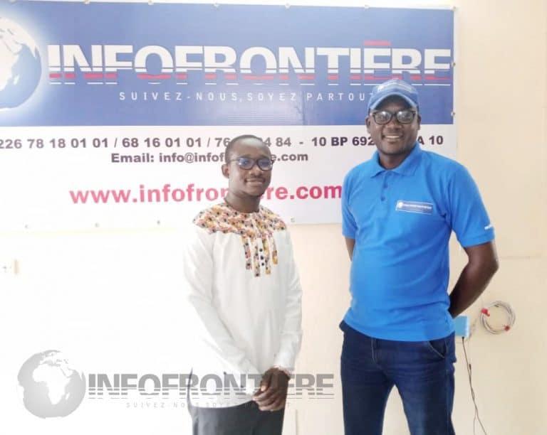 Le rédacteur en chef de votre journal, Serge Ekra Delafaurce a souhaité plein succès au jeune promoteur